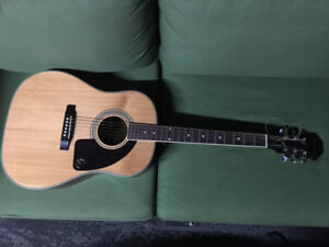 Epiphone AJ-200S Acoustic Guitar + Hardshell case and strap