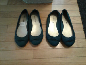 American eagle dark green flats sz 7&8