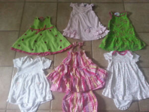 Lots 12m girl summer clothes(50 pieces)