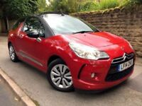 **CABRIOLET** 2014 CITROEN DS3 DSIGN 1.2 PETROL RED CABRIOLET 5 SPEED MANUAL £30 ROAD TAX