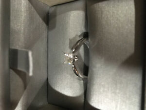 New Engagement Ring  14 Karat White Gold