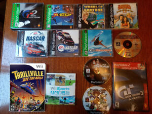 Games for Wii; PlayStation 1 & 2  ($10 Each)