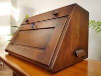 Ercol Portable Table Top Bureau Writing Desk Solid Elm