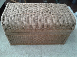 Large Wicker Blanket/Storage Box