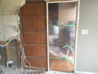 Drywall Demolition, Removal and Clean up Services