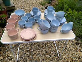 Selection of vintage Johnson Bothers cups and saucers