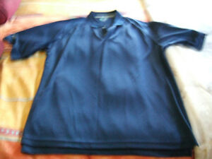 Large men's blue golf shirt- new- only $5