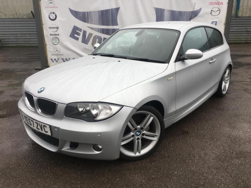 2007 bmw 1 series 116i m sport 3 door 18 inch alloy wheels partial black leather in cardiff. Black Bedroom Furniture Sets. Home Design Ideas