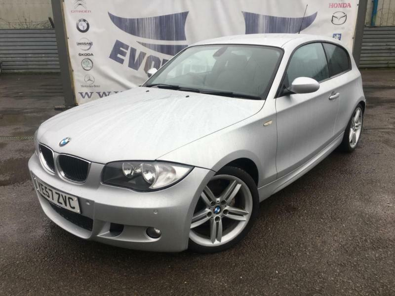 2007 Bmw 1 Series 116i M Sport 3 Door 18 Inch Alloy Wheels Partial Black Leather In Cardiff