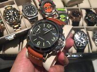 Panerai luminor watch brown strap