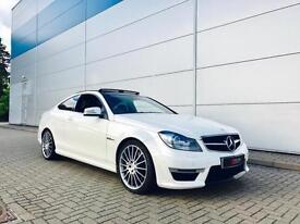 2012 62 reg Mercedes-Benz C63 AMG 6.3 MCT COUPE + WHITE + HUGE SEPC