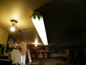 1- 8 foot long fixture--FREE BULBS