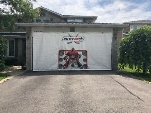 Hockey Extreme Shooting  Tarp 8'x16'  for the garage doors