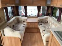 2013 Bailey Unicorn Pamplona 4 Berth caravan FIXED ISLAND BED AWNING BARGAIN !