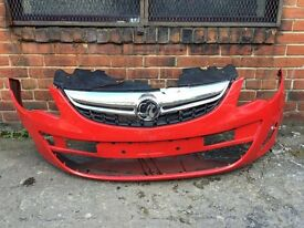 Vauxhall Corsa d facelift 2012 2013 2014 genuine front bumper for sale