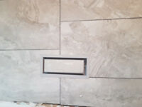 We install Ceramic and Porcelain tiles for $ 3.85/Sft.