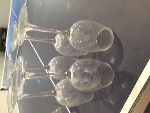Wine and martini glasses