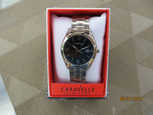 New Caravelle New York Men's Silver Watch.