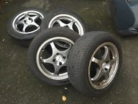 "Tsw 15"" alloys 4x100"