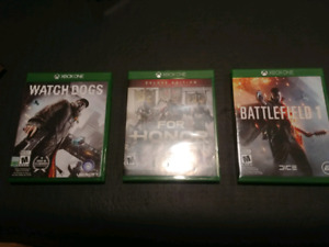 Xbox One Games and Kontrol Freeks (Watch Dogs, For Honor, BF1)