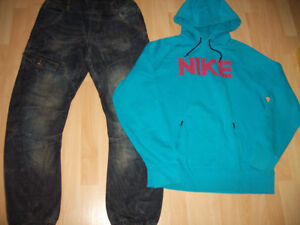 Jeans + Nike hoodie top ------- size M ----