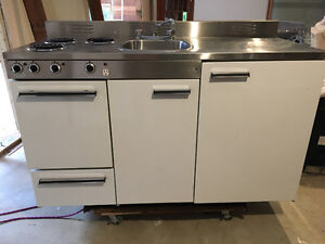 Retro 1977 stainless steel kitchenette all in one unit