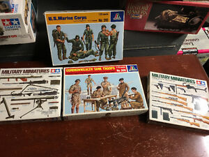 1:35 Scale Model WWII Military Accessories- 4 boxes