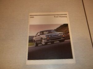 BROCHURE AUTO FORD MUSTANG 1985
