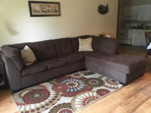 Sectional sofa with hide-a-bed