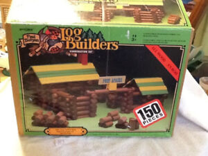 Vintage Toy 150 Paul Bunyan Log Builders Fort Apache