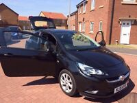 2015 VAUXHALL CORSA EXCITE 1.2 IN METALLIC BLACK FULL SERVICE IMMACULATE IDEAL FIRST CAR BARGAIN!