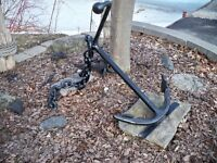 Ship  anchor and chain