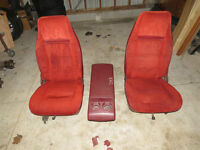 S10 BUCKETS CONSOLE RAT ROD RED BURGUNDY GMC CHEVY