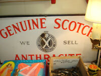 EARLY 1900'S PORCELAIN SIGN GENUINE SCOTCH ANTHRACITE