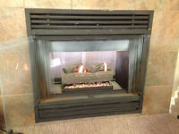 Flame & Comfort 2 sided Gas Fireplace