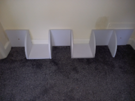 Corner shelving unit.