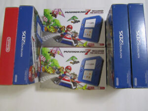 Nintendo 2DS Electric blue with MarioKart7 game