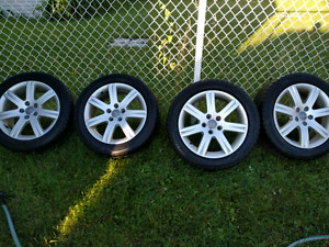 """Set of 4 Audi 17"""" wheels with with winter tires"""