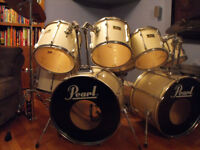 Double bass Pearl Drum Set