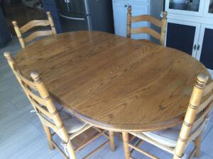 Dining set - Solid Oak