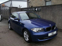 08 58 BMW 118D 2.0 TURBO DIESEL COUPE 3DR BLUE MET £30 TAX ALLOYS SPORTS SEATS