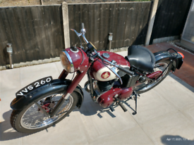 1954 BSA 250 C11G rigid
