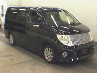 FRESH IMPORT 2005 FACE LIFT NISSAN ELGRAND XL BUSINESS EDITION V6 AUTO BLACK