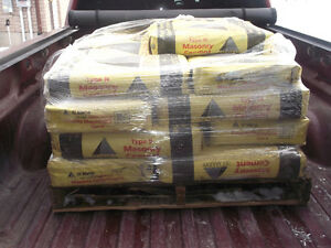 masonry cement $10 a bag or all 22 for $150