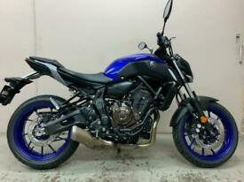 Yamaha MT-07 Blue 2020 New Unregistered