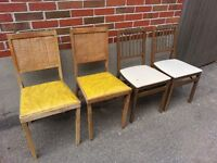 1950's Collapsible Airstream Trailer Chairs