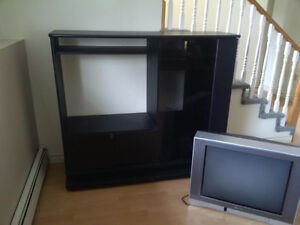 TV entertainment unit with Toshiba TV