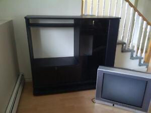 TV entertainment unit with Toshiba TV