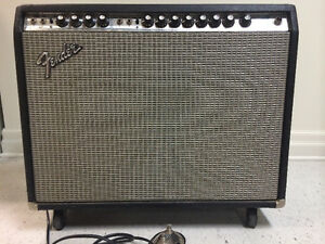 1974 FENDER TWIN REVERB AMP CONVERTED TO BLACKFACE