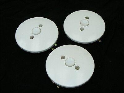 Old Switch White Flush Button Change-Over Flush-Mounted Loft Design Art Deco